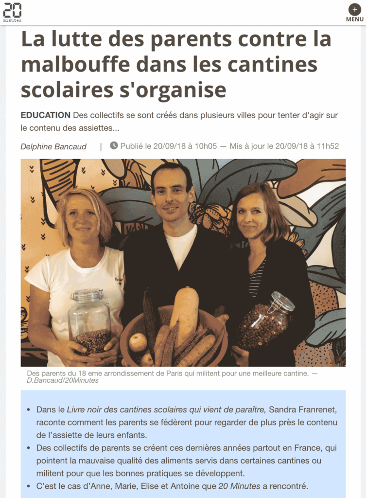 Article20MinutesCantinesScolaires